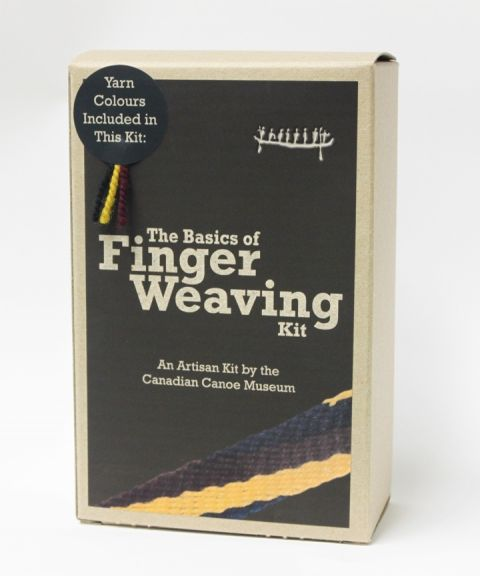The Basics of Finger Weaving Kit. An artisan kit available from the Canadian Canoe Museum