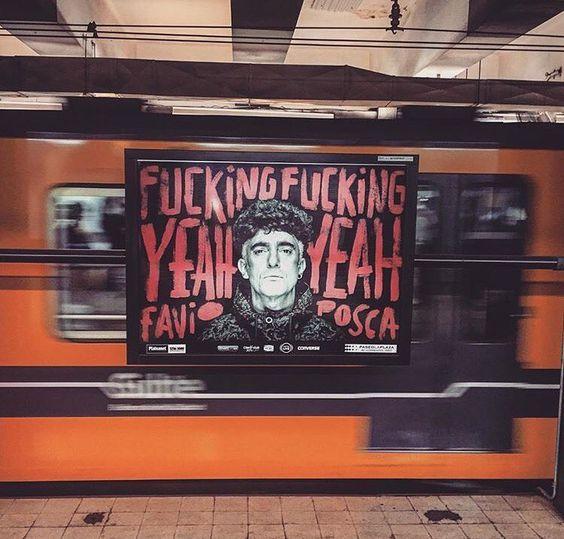 Gráfica para la obra del año  FFYY de @favioposca  foto en el subterraneo capturada por @nicolasmadoery by holabosque