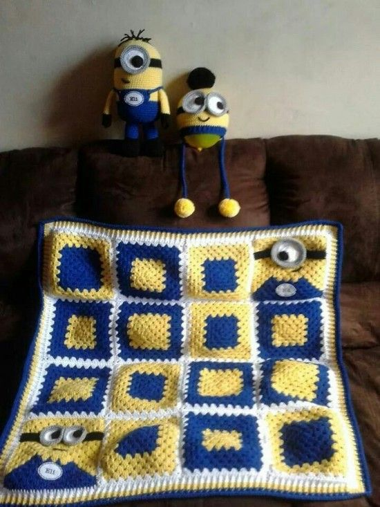 Minion Crochet Blanket: