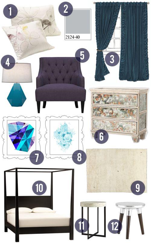 purple teal and grey bedroom mood board mr h