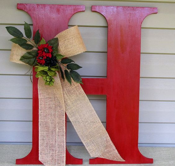 Christmas Gift Ideas, Paint And Burlap Bows On Pinterest