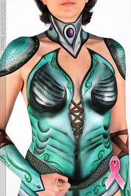 Breast Cancer Awareness Body Painting Project