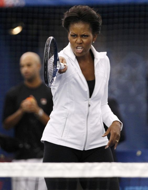 Michelle Obama at the U.S. Open