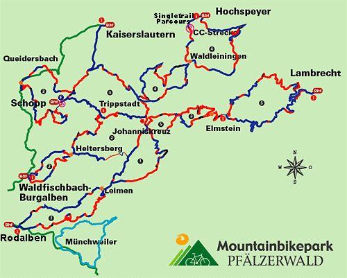 Streckennetz Mountainbikepark