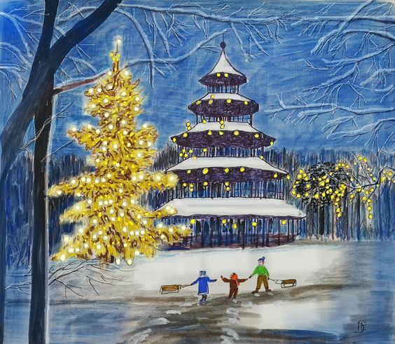 Weihnachten am Chinesischen Tumr in München