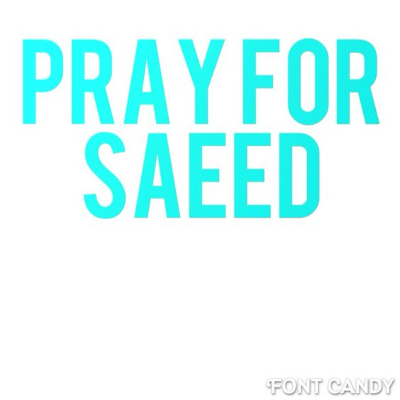 Tomorrow Saeed will have been captured in Iran for 2 yrs. for being a Christian pastor. His family is asking for a national day of prayer for him and all Christian prisoners. Write Pray For Saeed on ur wrist tomorrow 2 remind u and others. Spread the word. Add this to all boards!! #prayforsaeed