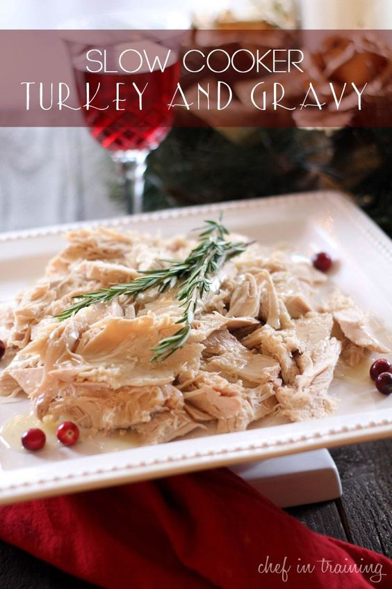 Slow Cooker Turkey and Gravy | chef in training