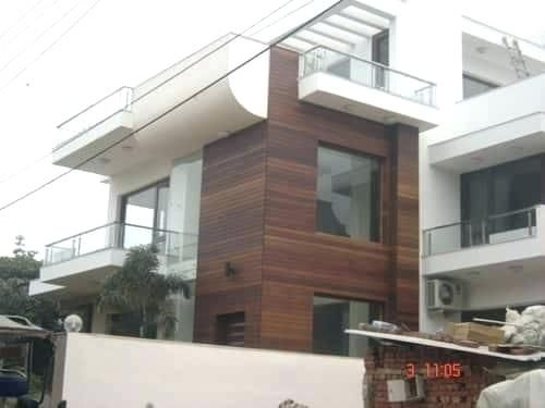 Wooden Tiles For Exterior Wall Texture En Exterior Wall Design