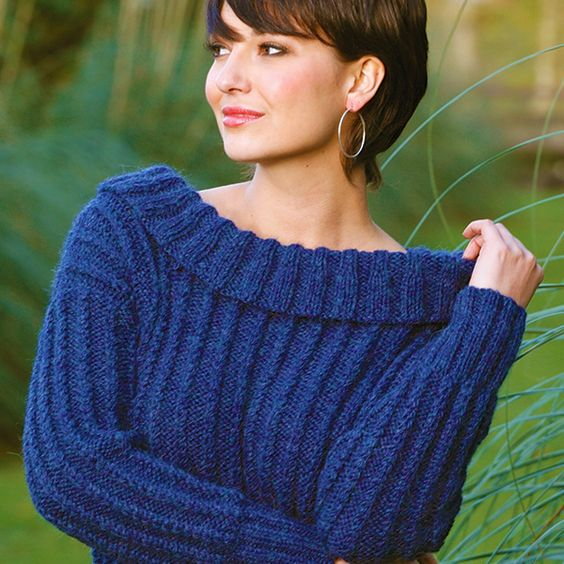 Free Knitting Pattern - Women's Sweaters: Elation Sweater Pattern