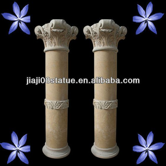 Travertine Stone Indoor Decorative Columns