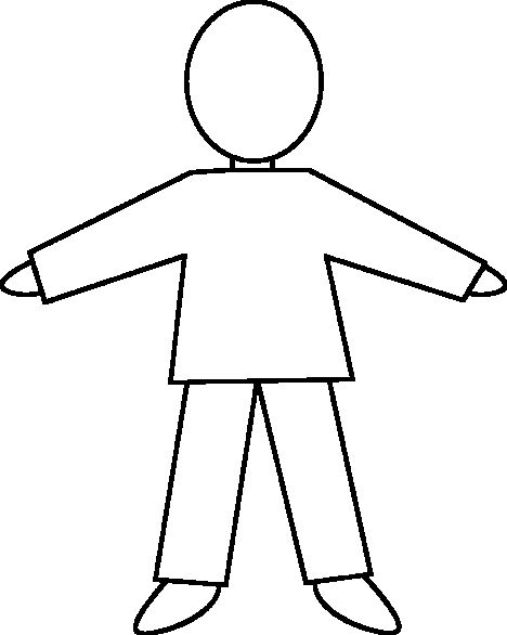 B outline of child to make a glyph Classroom Ideas – Template of a Person