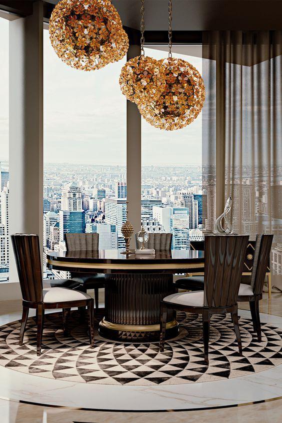 Girafe The Luxury Restaurant By Top Architect Joseph Dirand Modern Dining Room Tables Modern Dining Room Dining Room Table Decor