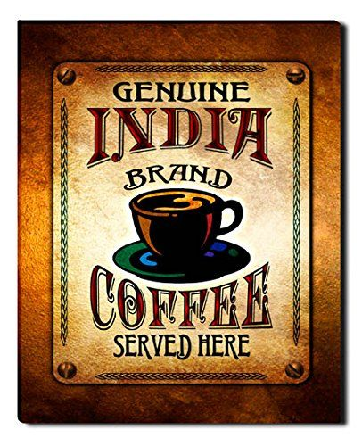 India Brand Coffee Gallery Wrapped Canvas Print ZuWEE…
