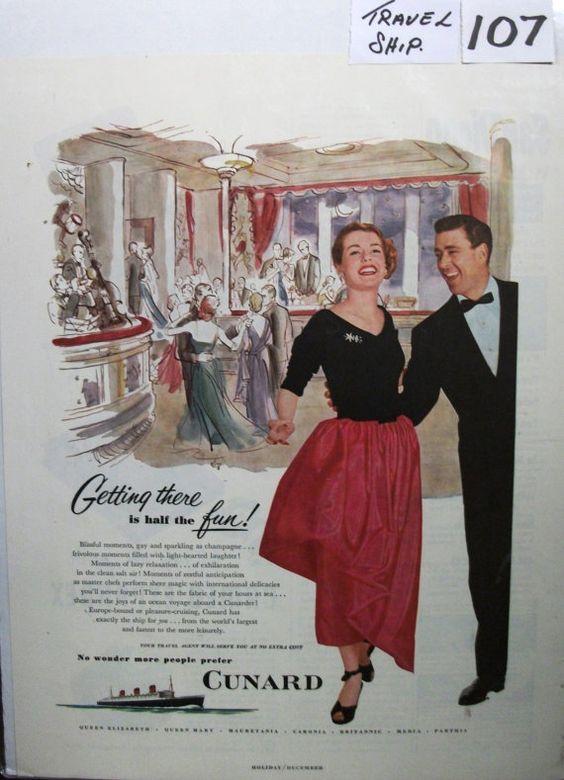 "Trav-C ... 107   ""Cunard ...""  Magazine Ad - December 1951"