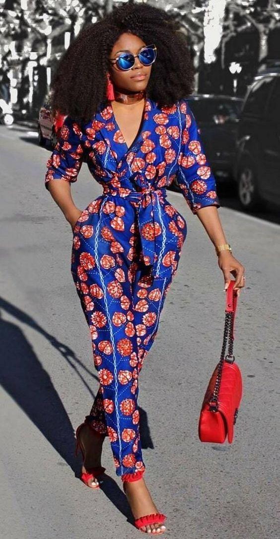 African print jumpsuits, African fashion, Ankara, kitenge, African women dresses, African prints, African men's fashion, Nigerian style, Ghanaian fashion, ntoma, kente styles, African fashion dresses, aso ebi styles, gele, duku, khanga, krobo beads, xhosa fashion, agbada, west african kaftan #Africanfashion