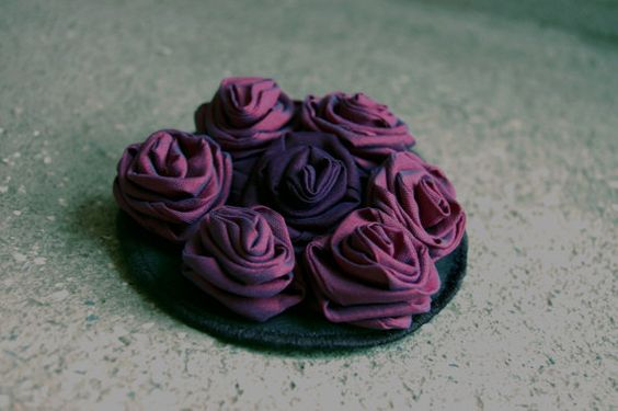 Floral Brooch  Round Pinback   Mothers Day by magdamagdaFashion, $17.00