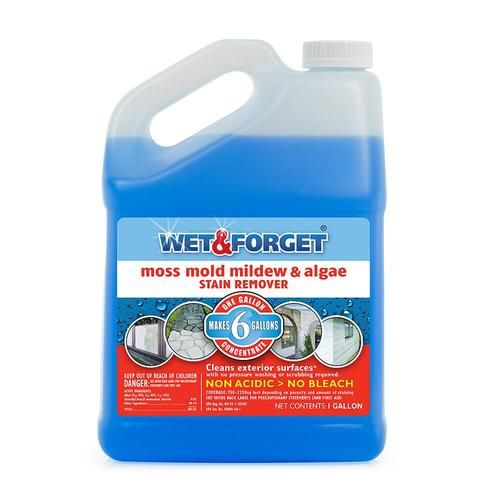 Wet And Forget 128 Fl Oz Liquid Mold Remover At Lowe S Get Rid Of Stubborn Green And Black Stains With Wet And For Mildew Stains Mold And Mildew Stain Remover