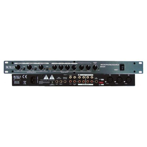 Rolls 7 Channel Mixer Compact Stereo Rack Mount The Rm67 Is A