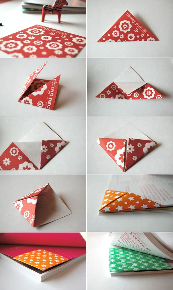Origami book mark great gift for teacher at the end of the yard or at the start :):) !!!: