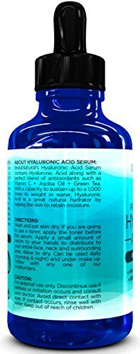 Hyaluronic Acid Serum -2OZ!- BEST Anti-Aging Skin Care Product for Face With Vitamin C Serum + Vitamin E + Vegan Hyaluronic Acid + Green Tea & More. Reduces Wrinkles, Fine Lines, & Discolorations! Have Youthful, Radiant, Vibrant Skin For GOOD! TWICE the SIZE - InstaNatural.