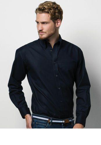 Camicia-aziendale-uomo-Workwear-Oxford-Maniche-lunghe-Tinta-unita-Facile-stiro
