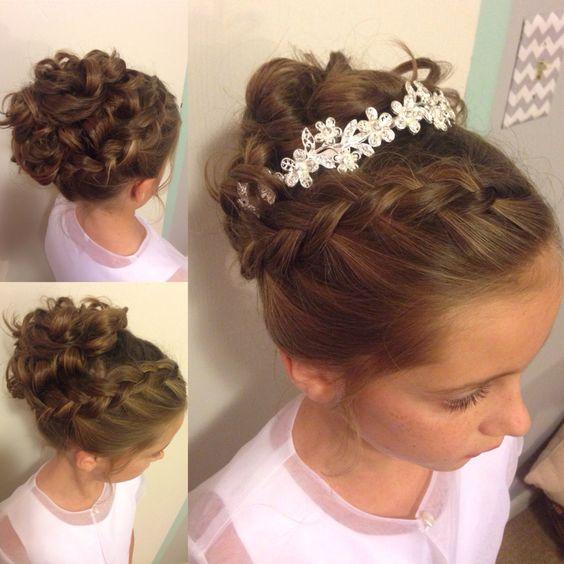 Little girl updo. Wedding hairstyle Instagram: @camfamsisters @sisterhood_closet
