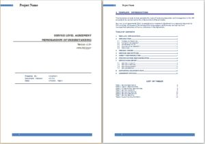 Agreement Templates Business Agreements Service Level Agreement