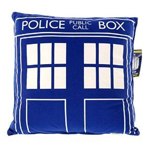 """Doctor Who Throw Pillow - Square Dr. Who TARDIS Cushion - 16"""" x 16"""" from Underground Toys Disc: Affiliate Link"""