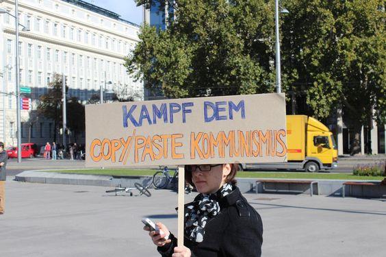 Die Demo für die Festplattenabgabe in Bildern - Kampf dem Copy/Paste Kommunismus ^^