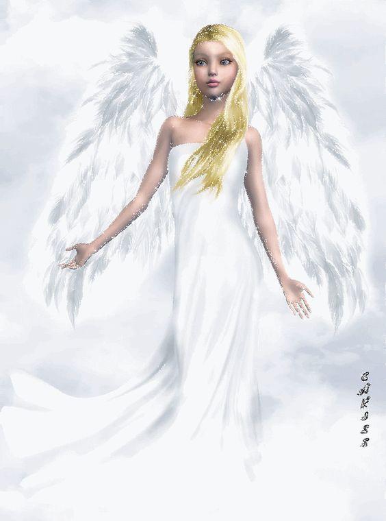 Ángel con los brazos abiertos ...