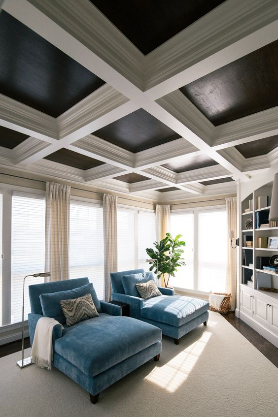 Coffered Ceiling, Walsh Hill Design