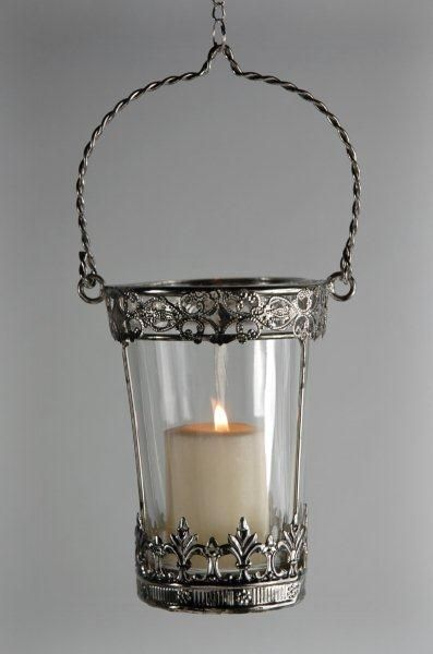 Hanging votive holders with glass inserts bling wedding for Hanging votive candles
