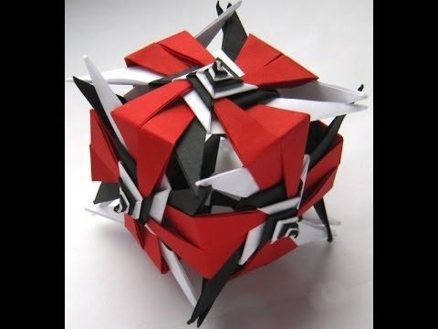 ▶ Origami Kusudama Nordblumen by Irina Krivyakina - Yakomoga Origami tutorial - YouTube