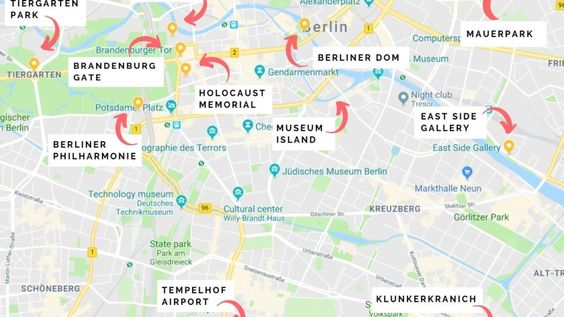 Berlin Attractions Map 12 Unique Things To Do In Berlin In 2020 Berlin Berlin Travel Germany Vacation