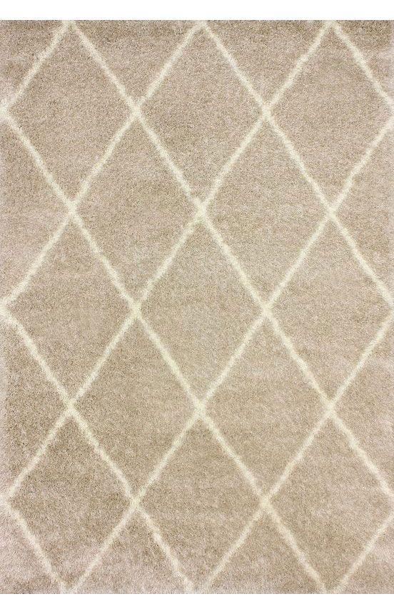 Moroccandiamond Shag Rug Carpets Contemporary Rugs And