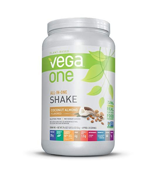 Vega One All In One Nutrition Shake Plant Based Protein Powder Coconut Almond 20 Servings Net Plant Based Protein Powder Nutrition Shakes Vegan Protein Powder