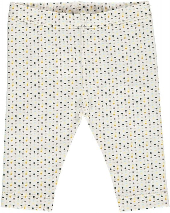 Kidscase 3/4 Length Baby Leggings. Beautifully soft organic beige baby leggings with spot detailing. Sale price £8.50 + Free P&P