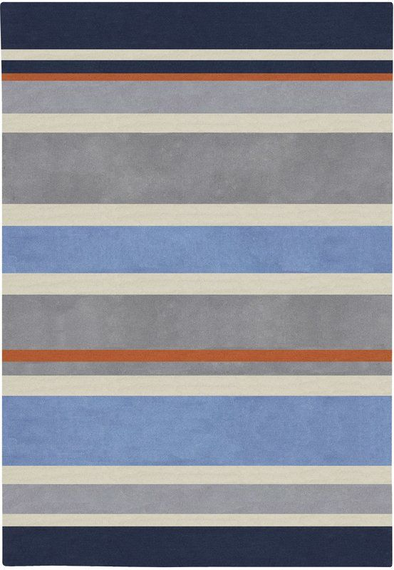 Noemi Hand Tufted Gray Blue Area Rug Striped Rug Kids Area Rugs Chic Rug