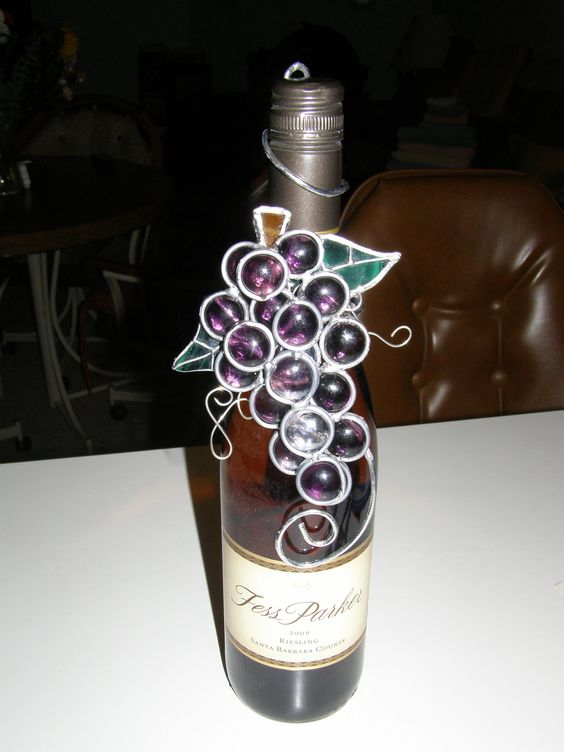 Just completed the wine decoration!  Barb is making the wine decorations again! Yay!