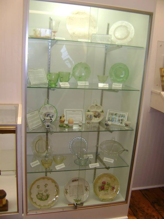 A sampling of Depression Era glass at the Museum at the Depot. #visitmiddleton (Photos: Middleton Area Historical Society)