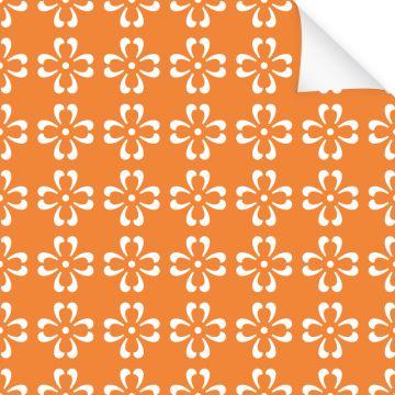 Klebefolie Dekor Muster Blume Orange Weiß