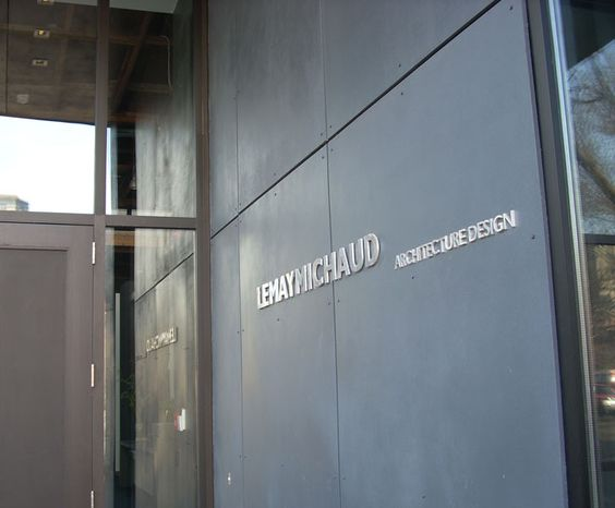 LEMAYMICHAUD | Montréal | Architecture | Interior Design | Corporate | Office | Entrance | Signage | Logotype |