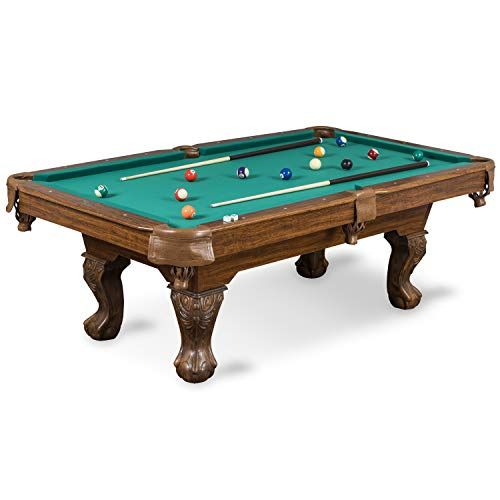 Eastpoint Sports Masterton Billiard Pool Table 87 Inch Features Traditional Claw Legs And Parlor Style Drop Pockets Includes 2 Cues Billiards Balls And T In 2020 Billiard Pool Table Pool Table Best Pool Tables