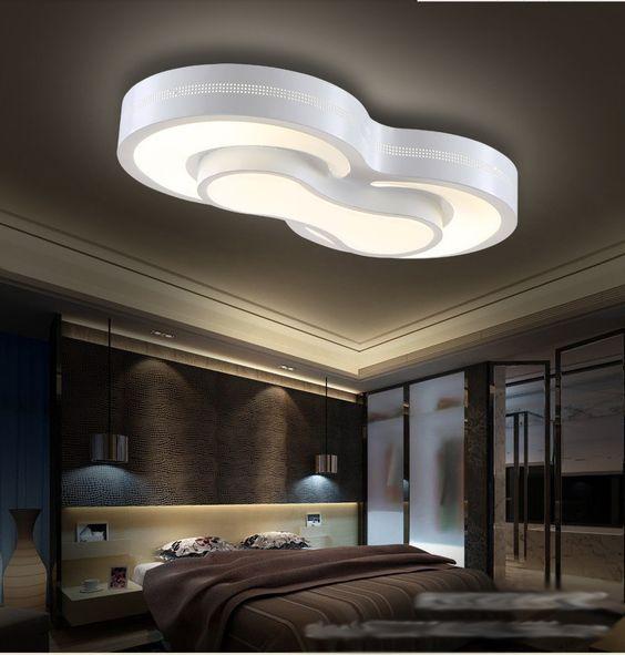 Lampade camera da letto moderna luci di soffitto del led - Luci camera da letto ...