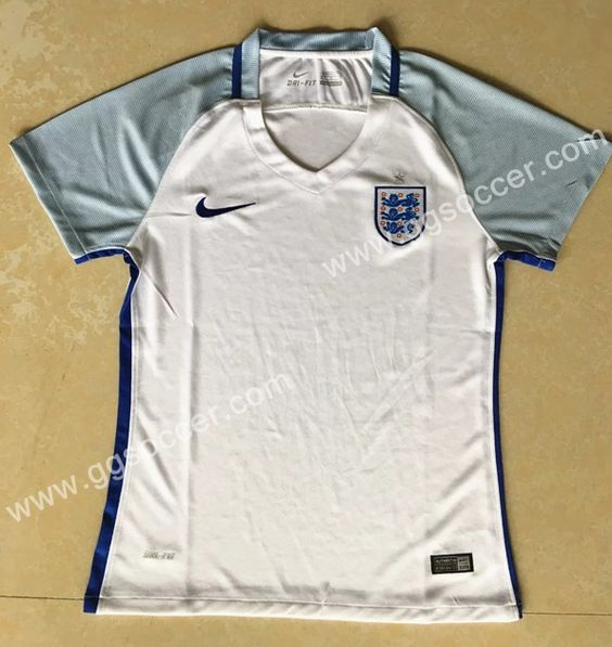 2016 European Cup England Home White Female Thailand Soccer Jersey-England,Thailand Female Soccer Jersey| topjersey