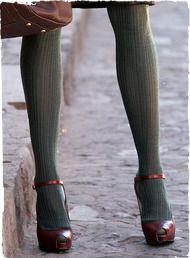 blue-gray tights