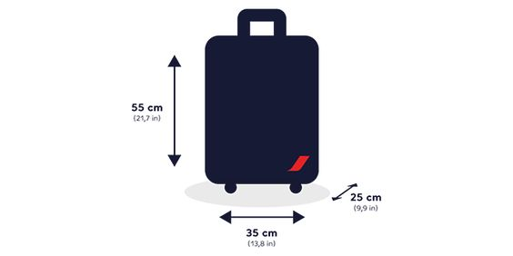 DIMENSION ET POIDS DES VALISES AIR FRANCE  -  Air France vous indique les objets que vous pouvez transporter en cabine, en fonction de votre destination et du type de votre cabine.