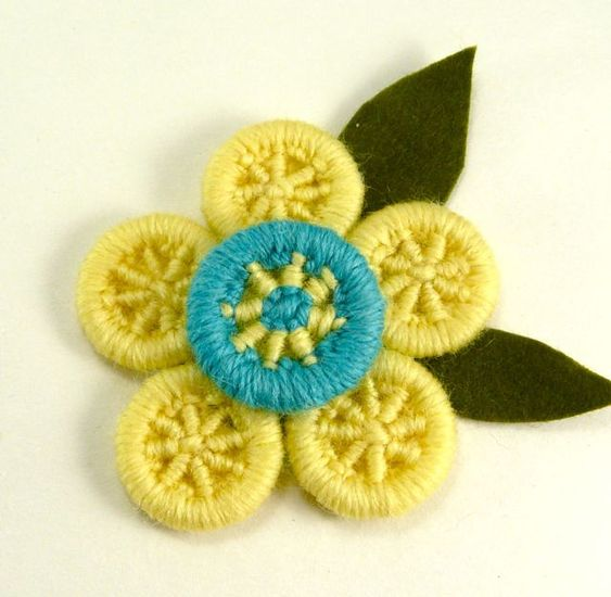 dorset button brooch: