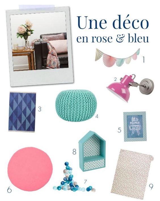Idée #deco : #rose & #bleu #pastel : http://blog.maginea.com/deco/tendance-deco-on-mise-sur-le-bleu-et-rose/