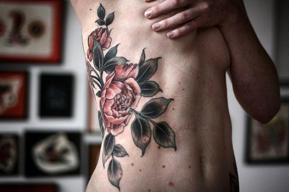 #tattoo by #alicecarrier #ribtattoo